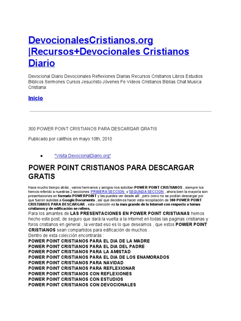 300 power point cristianos para descargar gratis