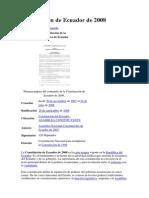 Constitución de Ecuador de 2008