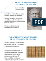 Características Generales de La Filosofía de Platón