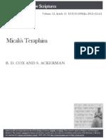 Micahs Teraphim - Cox