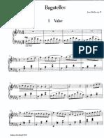 Sibelius Bagatelles Op34