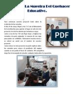 Reporte de La Muestra Del Quehacer Educativo