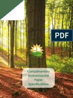 Environmental Paper Specs