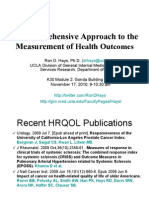 A Comprehensive Approach to the Measurement of Health Outcomes