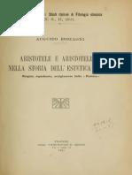 Aristotele e Aristotelismo Nella Storia Dell'Estetica Antica - Rostagni