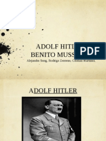 Adolf Hitler y Mussolini