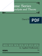 David R. Brillinger Time Series Data Analysis and Theory 2001