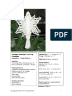 0325 Pineapple Snowflake Treetop Ornament