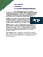 IT Performance Measurement