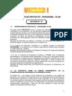 Plan Programa y Proyecto