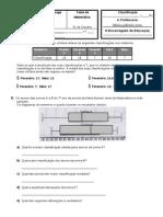 1 Teste a Semelhanças e Isometrias 2011
