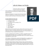 Biografía de Johann Von Goethe
