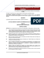 Ley Del Heroico Cuerpo de Bomberos Del Distrito Federal