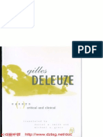 DELEUZE, Gilles. Essays Critical and Clinical
