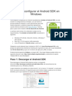 Instalar y Configurar El Android SDK en Windows