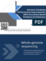 Genomic Database Performance Improvements With Document-Based Database Architecture