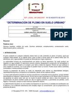 Determinacion de Plomo Ditizona
