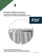 Bosch Dishwasher SHV46C13-SHX43Cii