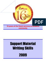 Support Material on Writing Skills - For XAT, TISS, FMS Etc