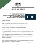 Australian Citizenship Amendment (Intercountry Adoption) Bill 2014 Second Reading Speech, Parliament House