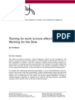 Work For the Dole - Critcal Study