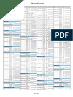 Sky 2014 Timetable