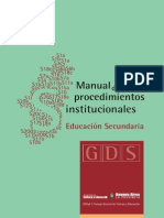 Manual Procedimientos Secundaria