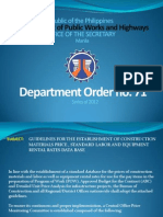 Department Order 71 2012