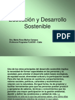 Educacion y Desarrollo Sostenible (Power Point)