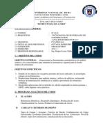 Syllabus Estructuras de Acero