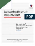 Los Biocombustibles en Chile Principales Avances Jose Antonio Ruiz f