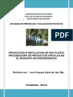 Proyecto Produccion e Instalacion Planta Apicola Misky