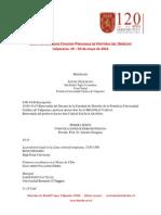 Programa Cuartas Jornadas Chileno Peruanas