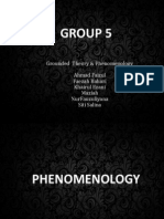Phenomenology and Grounded Theory Finale