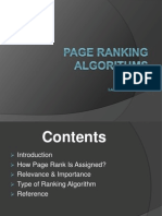Page Ranking Algorithms