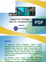 Support for Strategic Local Development and Investment Project
