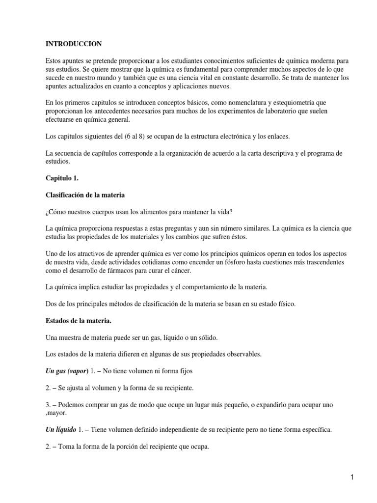 Resumen Quimica Basica