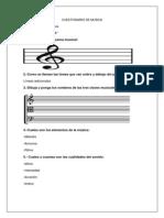 Cuestionario de Musica
