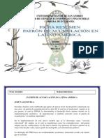 Ficha de Teoria Del Desarrollo Resumen de Patron de Acumulacion (1)