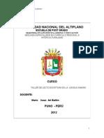 Modulo 2da Especialidad Care Lingusti Una 2012