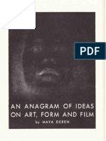 Deren Maya - An Anagram of Ideas on Art Form and Film