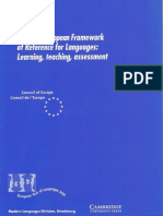 The Common European Framework of Reference for Languages