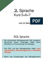 Kurs 5+6+7 - SQL Sprache