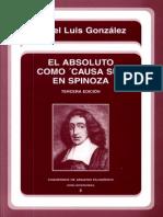 González, Ángel L. - El absoluto como causa sui en Spinoza.pdf