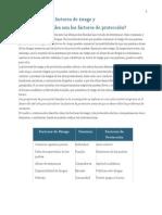 Factores de Riesgo y de Protección VALORES