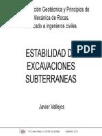 Estabilidad Excavaciones Subterráneas-JV
