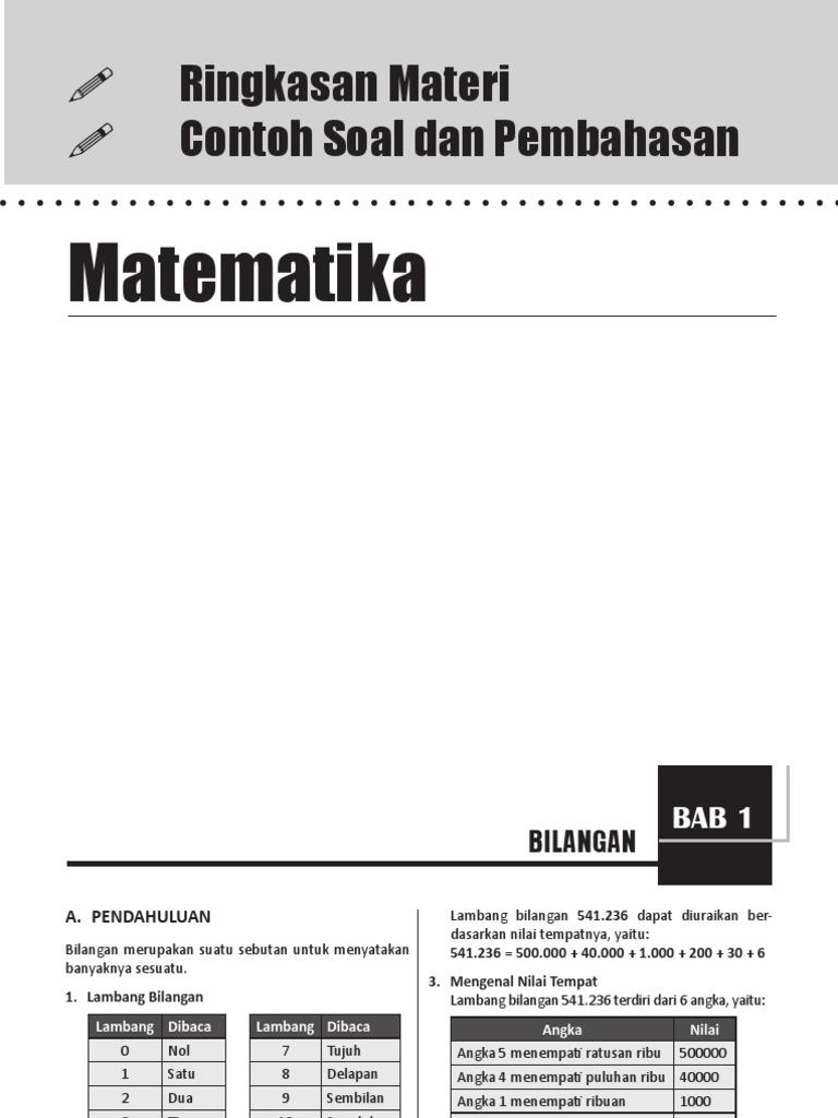 Ringkasan matematika sd mi ccuart Images
