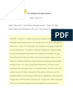 The Philippine Budget System