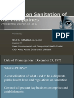 Salient Provisions of the Philippine Sanitation Code by Nilo Marayag of DOH