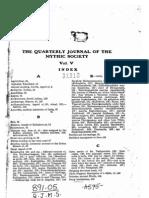 Quarterly Journal of the Mythic Society Volume 05, 1914